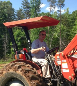 Ray on a Tractor